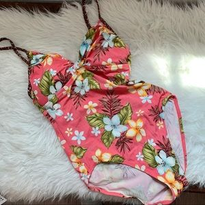 Beach native one piece swimsuit floral 8 B2